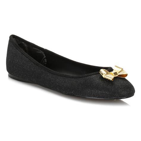 black sparkle flat shoes ted baker womens flats black sparkle ballerina leather