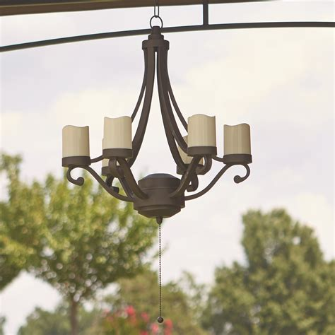 Grand Resort Scroll Chandelier Outdoor Gazebo Lighting Chandelier