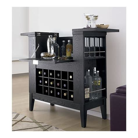 crate and barrel cabinets and liquor on