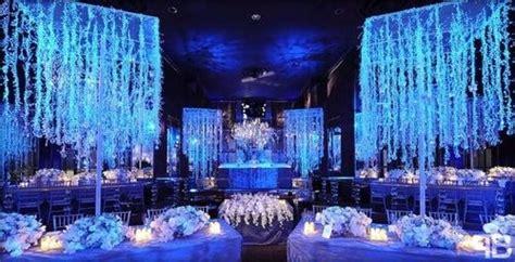 blue glow   dark venue wedding wedding