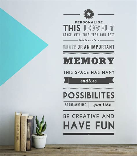 personalised wall stickers quotes personalised quote wall sticker by oakdene designs notonthehighstreet