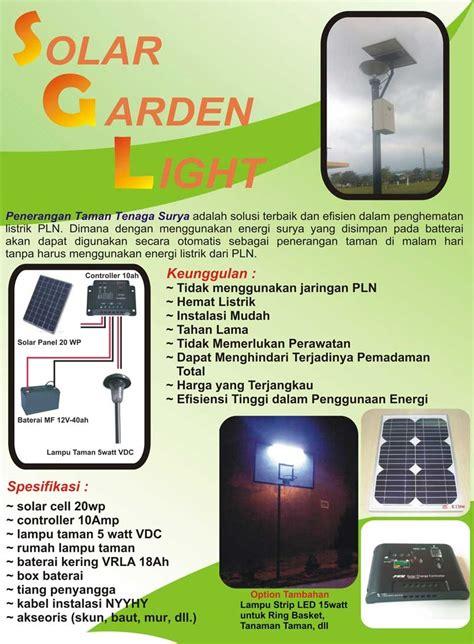 Paket Lu Taman Solar Cell 20wp distributor solar garden light solar panel surya harga
