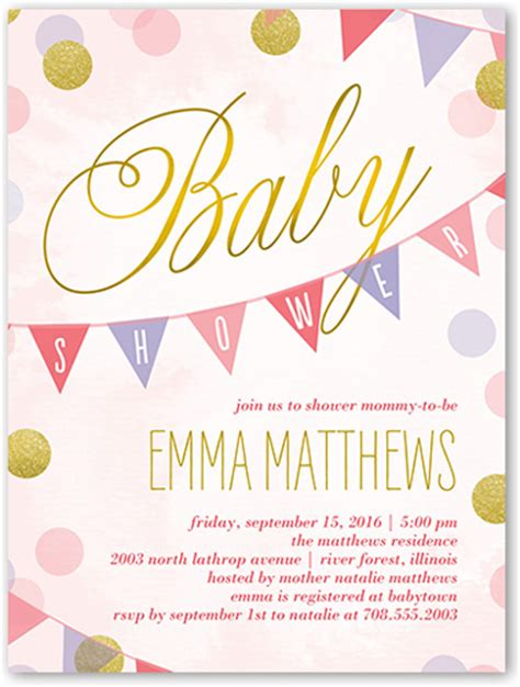 Baby Shower Invitations Shutterfly by Showering Dots 4x5 Invitation Baby Shower