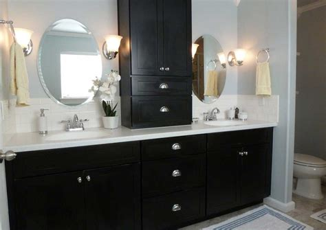 White Bathroom Vanity With Black Countertop by Bathroom Vanities Black With White Countertop Home