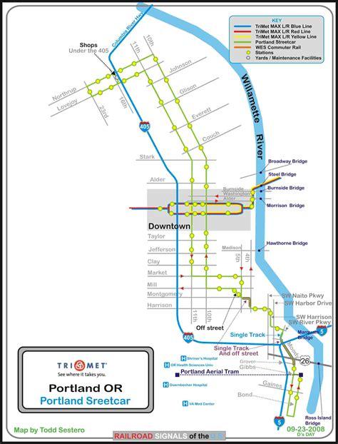 portland transit map portland or railfan guide bnsf s lake yard area