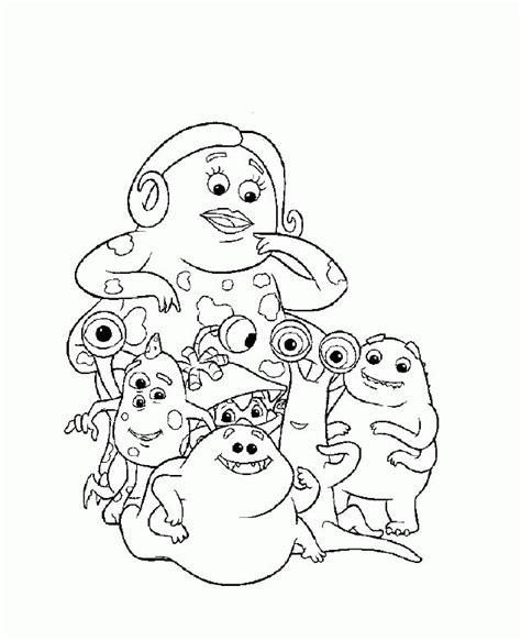 Inc Characters Coloring Pages by Pictures Of Monsters Inc Characters Coloring Home