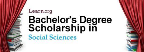 social sciences bachelor s degree scholarship