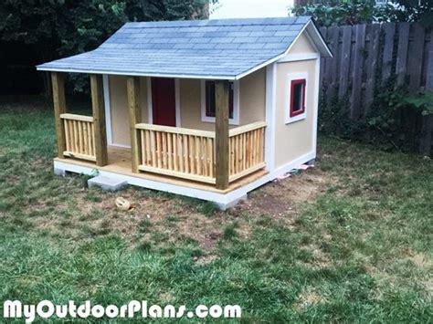 diy kids playhouse myoutdoorplans  woodworking