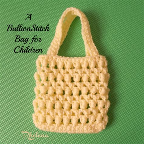 crochet pattern child purse a bullion stitch bag for children crochetn crafts
