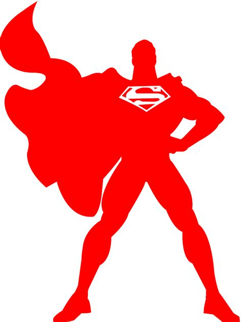 superman silhouette free vector silhouettes