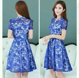 Baju Pesta Ala Korea baju mini dress wanita rajut terbaru cantik murah