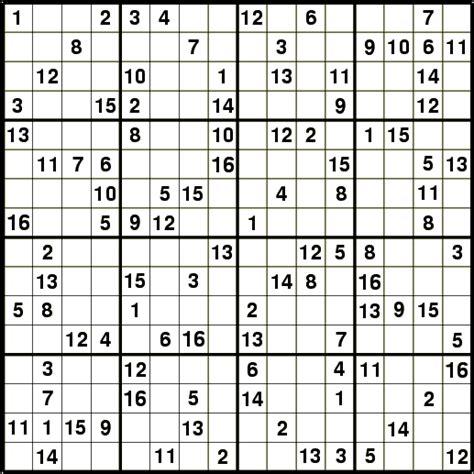 printable hexadecimal sudoku el rinc 243 n esf 233 rico m 225 s variantes del sudoku
