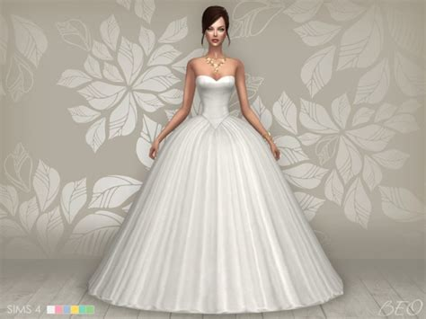 Wedding Dress The Sims 4 by Wedding Dress At Beo Creations 187 Sims 4 Updates