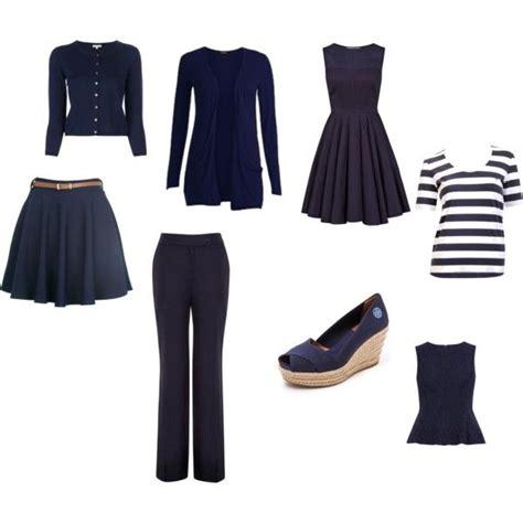 Navy Blue Capsule Wardrobe by Minimalist Summer Capsule Wardrobe Navy Fashionista