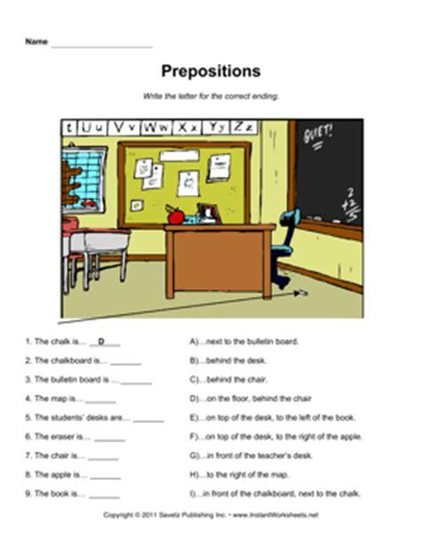 esl prepositions 1 instant worksheets