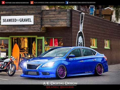 nissan sentra 2013 modified 2013 nissan sentra modified by akdigitaldesigns on deviantart