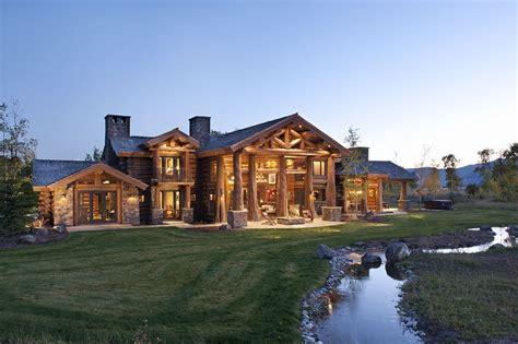 log cabin luxury homes luxury log cabin homes wsj mansion idaho logs and