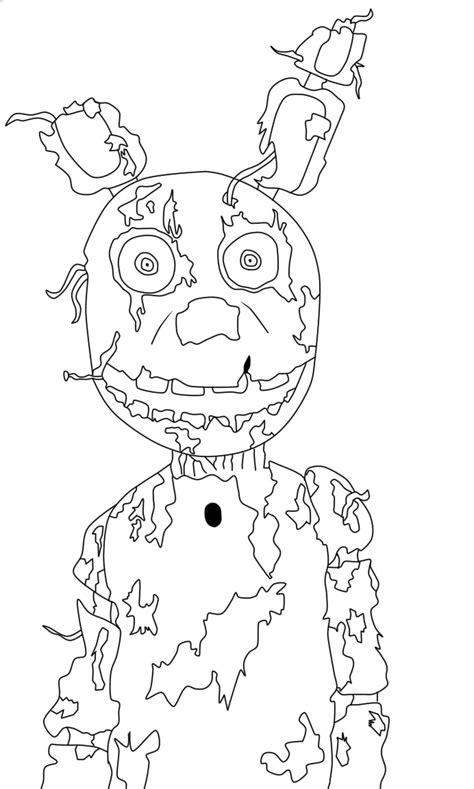 imagenes de fnaf kawaii para dibujar springtrap fnaf3 para colorear xd by pixeliada on deviantart
