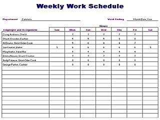 work roster layout free employee schedule template word format