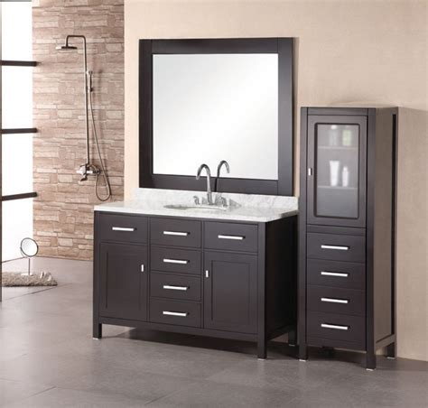 Washroom Vanity by 48 Inch Modern Single Sink Bathroom Vanity With White
