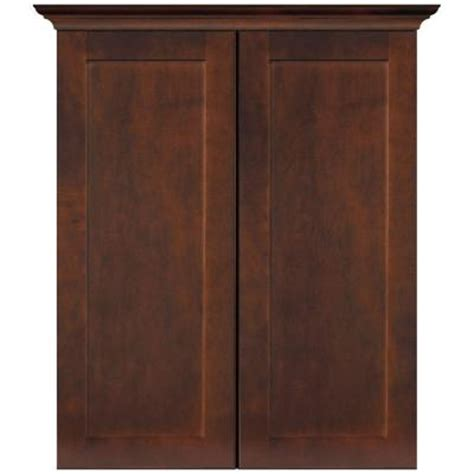 masterbath shaker 24 in w bath storage cabinet in java