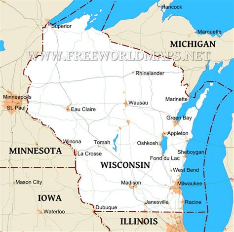 wisconsin on us map wisconsin maps