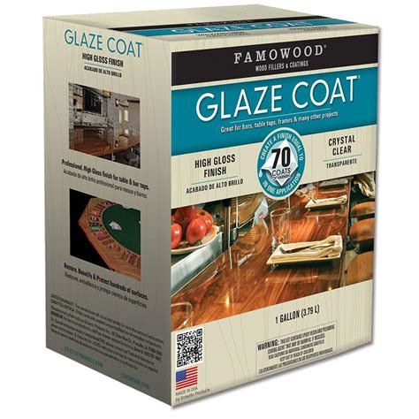 famowood 1 gal glaze coat clear epoxy kit 2 pack