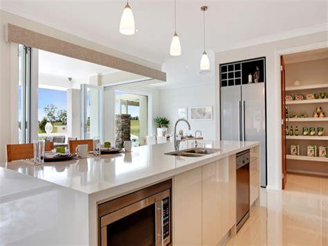 modern island kitchen design using stainless steel