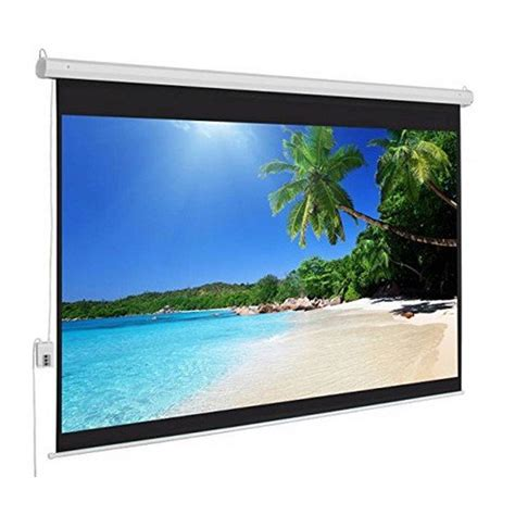 Layar Wall Projector 187 jual layar proyektor motorized d light wall screen