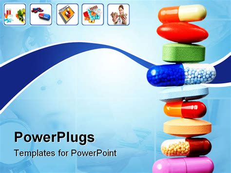 free pharmacy powerpoint templates powerpoint template stack of various pills and capsules