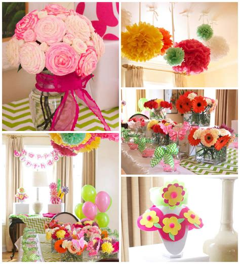 kara s party ideas flower shop themed birthday party via