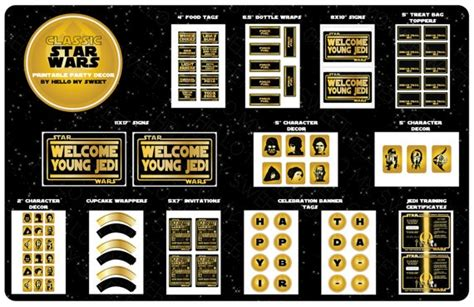printable decorations star wars 17 images about star wars birthday party on pinterest