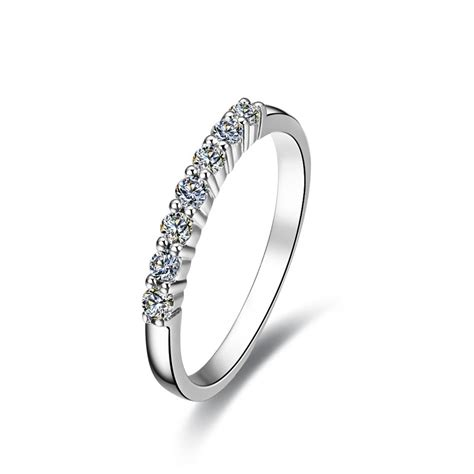 sterling silver wholesale 7stone 925 ring for