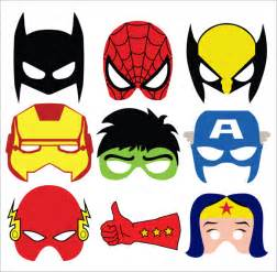 superhero mask template 7 download documents in psd