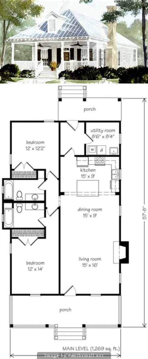 cottage floor plan best 25 small cottage plans ideas on small