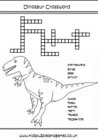 dinosaur crosswords kids puzzles games