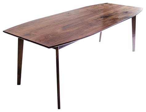 mid century modern furniture dining tables the santa solid black walnut dining table mid