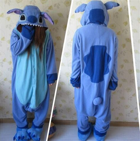 stitches pijama aliexpress comprar dise 241 ador kawaii anime animal azul