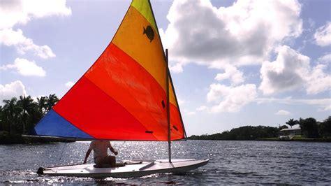 sunfish boat sailing a sunfish small sailboat light wind youtube