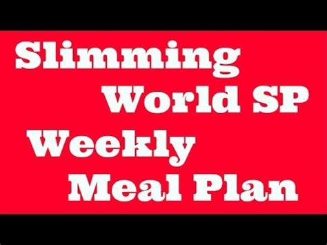 Slimming World Weekly Menu Planner Sw Extra Easy Sp Plan