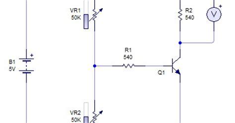 transistor yang digunakan pada rangkaian analog fisika dan yang siduldobah rangkaian sensor di barengi pembagi tegangan