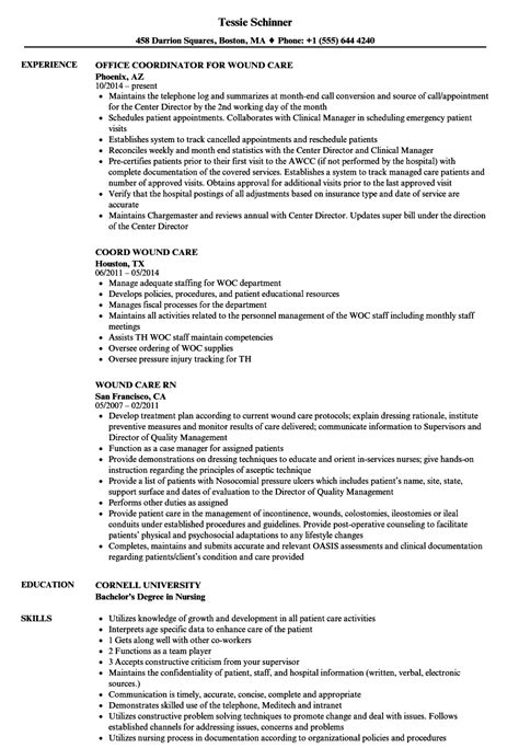 Wound Ostomy Continence Cover Letter by Wound Ostomy Continence Sle Resume Code Enforcement Officer Sle Resume