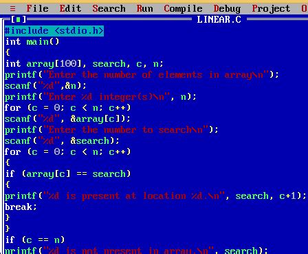 Search C Linear Search In C Programming