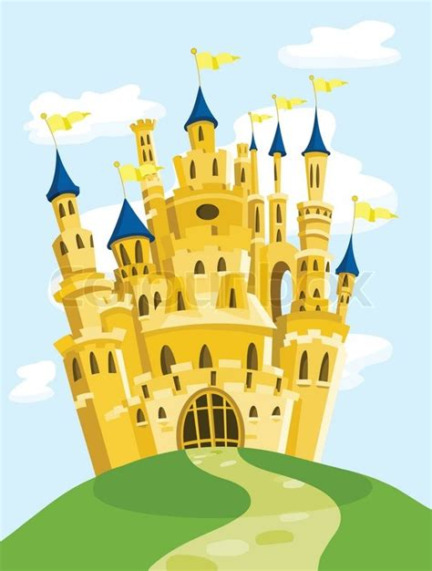 Magic castle   Stock Vector   Colourbox