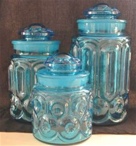 teal glass canisters vintage kitchen canisters atterbury teal glass canisters vintage kitchen canisters