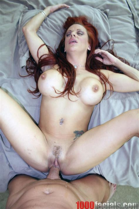 big racked redhead shannon kelly gets cum on her tits and