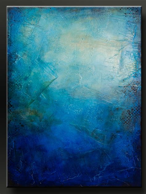 acrylic paint for large canvas blue 30 x 40 abstract acrylic painting on canvas