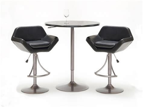 bar stools tables hillsdale valencia 3 piece adjustable table and bar stool