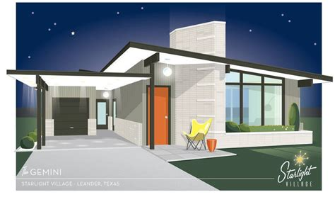 modern homes com this midcentury modern village popping up near austin is a