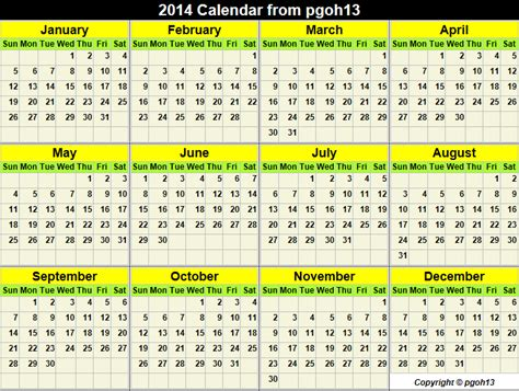 Easter 2014 Calendar 2014 Calendar And Dates For Your Agenda From Http Pgoh13